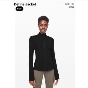 Lululemon Define zip up jacket athletic black 4